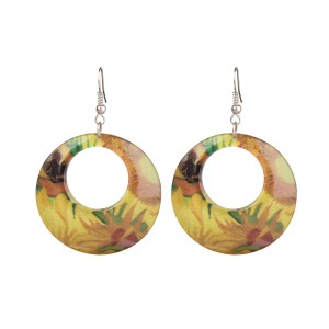 Van Gogh Hoop earrings Sunflowers