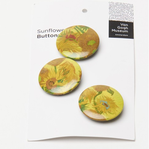 Van Gogh Button Sunflowers