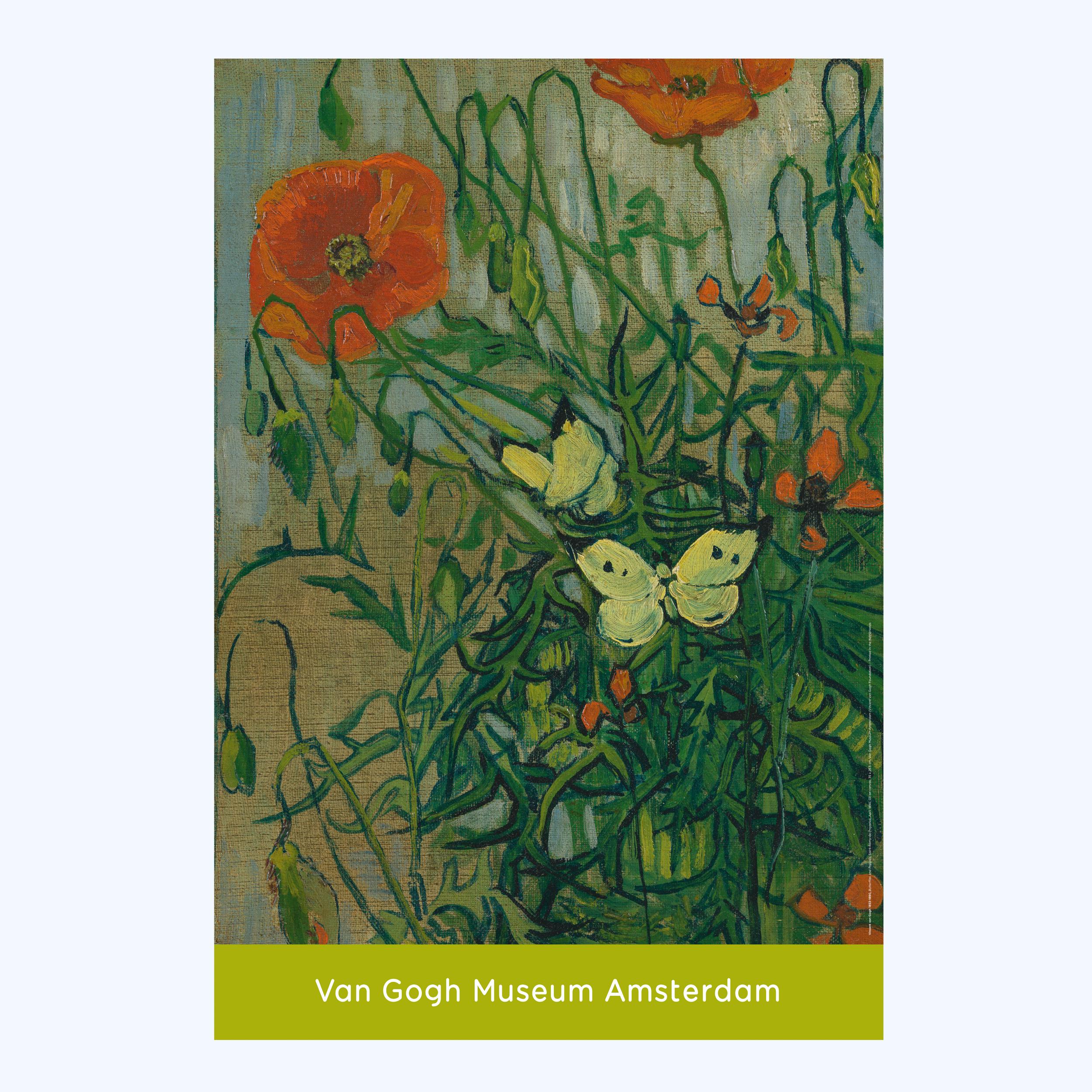 Van Gogh Poster Butterflies and Poppies - Van Gogh Museum shop