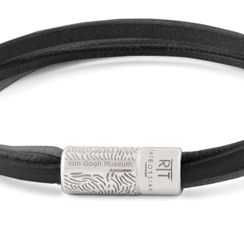 Van Gogh Tateossian® leather multi-strand bracelet black