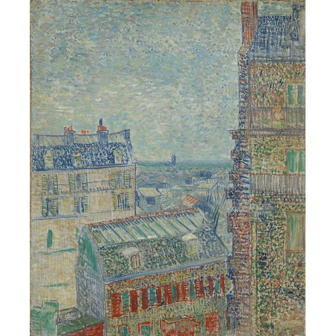 Van Gogh Giclée, View from Theo's Apartment
