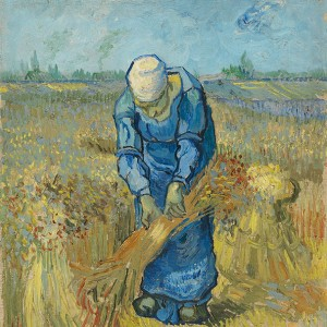 Van Gogh Giclée, Peasant Woman Binding Sheaves (after Millet)