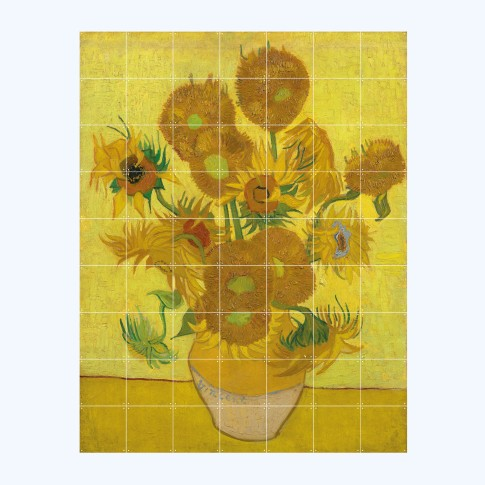 Van Gogh Sunflowers wall deco 140 x 180