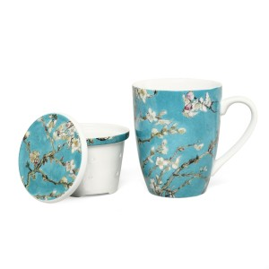 Van Gogh Mug with infuser Almond Blossom