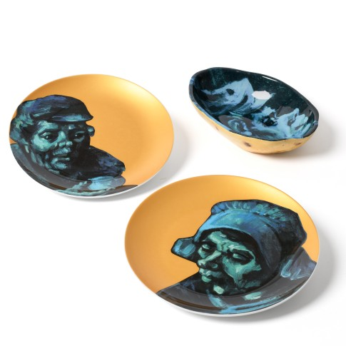 Van Gogh Dinnerware set The Potato Eaters, bowl + 2 plates