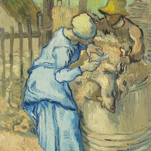 Van Gogh Giclée, The Sheepshearer (after Millet)