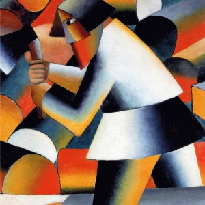 Print S Malevich, The Woodcutter