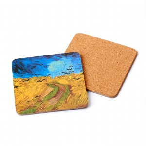 Coaster Wheatfield with Crows