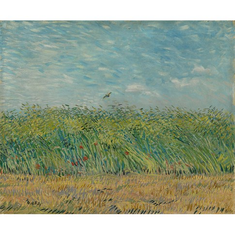 Van Gogh Giclée, Wheatfield with Partridge