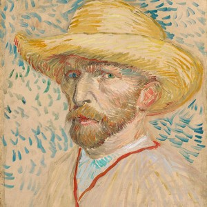 Van Gogh Giclée, Self-Portrait with Straw Hat