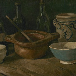 Van Gogh Giclée, Still Life with Earthenware and Bottles