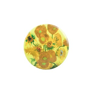 Van Gogh Mirror button Sunflowers
