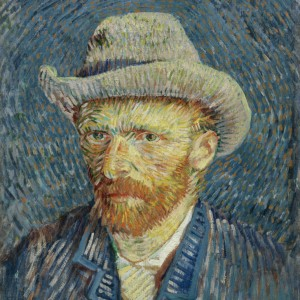 Van Gogh Postcard  Self-portrait with felt hat