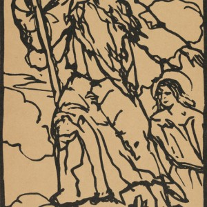 Illustration from the artists' book Le Juif errant by Émile Bernard