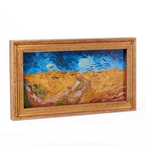 Framed magnet Wheatfield with Crows