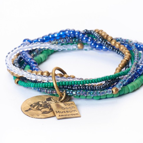 Van Gogh A Beautiful Story® Bracelet Irises 7-strings