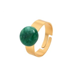 Van Gogh Ring with jade gemstone, by Ellen Beekmans®