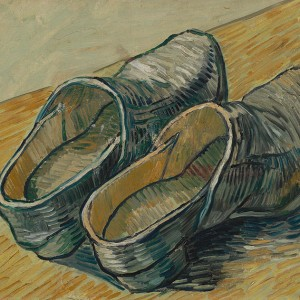 Van Gogh Giclée, A Pair of Leather Clogs