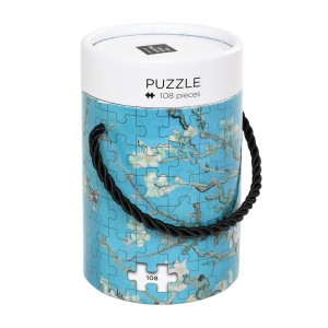 Van Gogh Wooden puzzle in can, Almond Blossom
