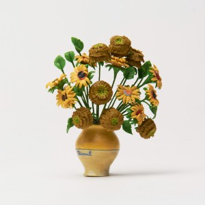 Van Gogh 3D Magnet  Vase with Sunflowers