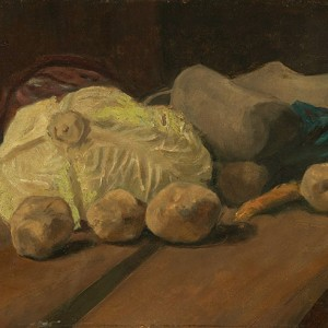 Van Gogh Giclée, Still Life with Cabbage and Clogs