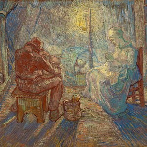 Van Gogh Giclée, Evening (after Millet)