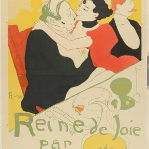 Poster for the novel Reine de joie, moeurs du demi-monde by Victor Joze