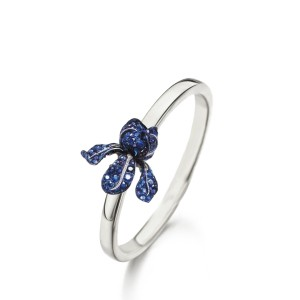 Van Gogh Gassan® Golden ring with blue topaz Irises