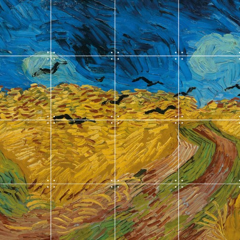 Van Gogh IXXI Wheatfield with Crows 160 x 80