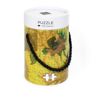 Van Gogh Wooden puzzle in can, Sunflowers