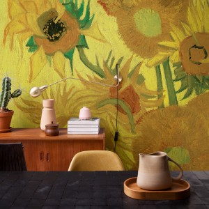 Van Gogh 3D Wallpaper Sunflowers