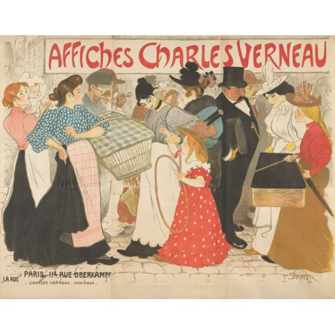 The Street (La rue), poster for the printer Charles Verneau