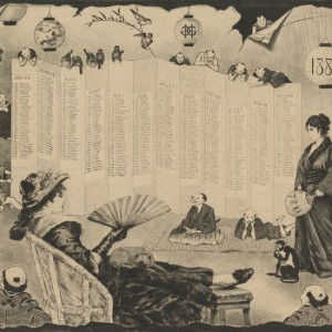 Japonaiserie with calender 1884
