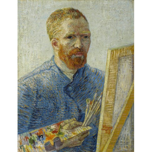 Van Gogh Postcard Self-portrait as an Artist