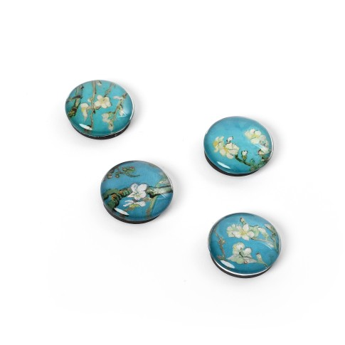 Glass magnets Van Gogh Almond Blossom