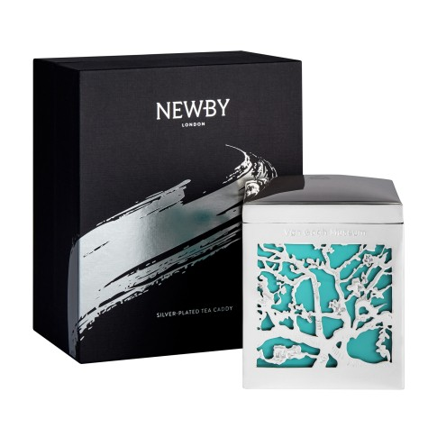 Van Gogh Newby® tea in silver plated caddy, Almond Blossom