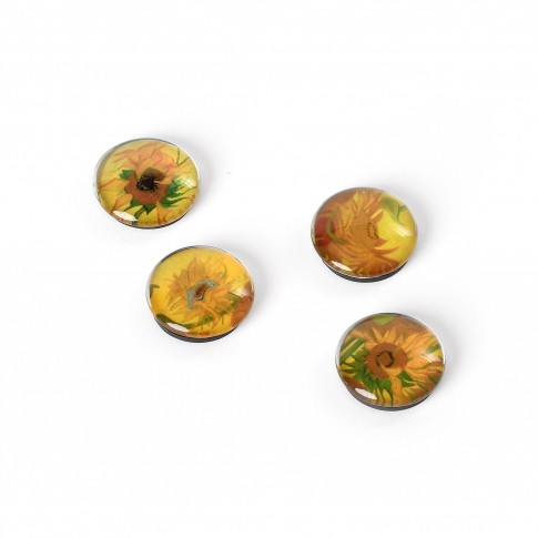 Glass magnets Van Gogh Sunflowers