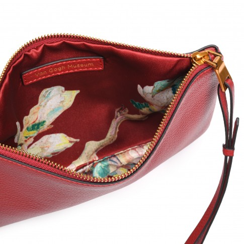 Smaak® Leather pouch Van Gogh Blossom Sprig red
