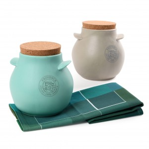 Van Gogh Gift set The Harvest, 2 storage jars + tea towel blue