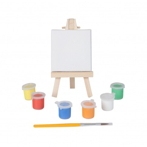 Mini easel set with paint & brush