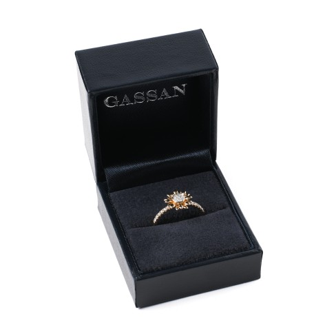 Van Gogh Gassan® Golden ring with 23 diamonds Sunflowers