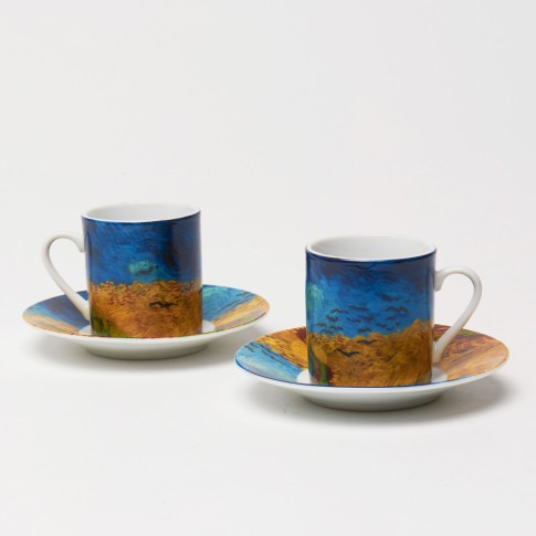 Espresso cups Wheatfield with crows