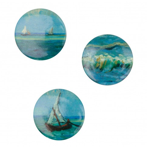 Van Gogh Buttons Seascape