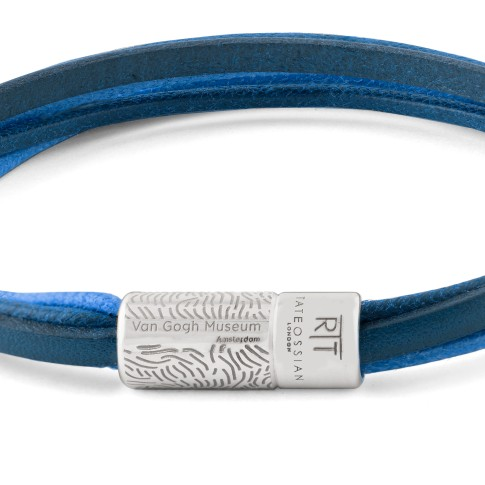 Van Gogh Tateossian® leather multi-strand bracelet blue