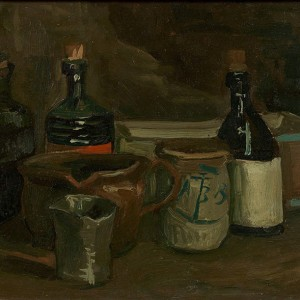 Van Gogh Giclée, Still Life with Bottles and Earthenware