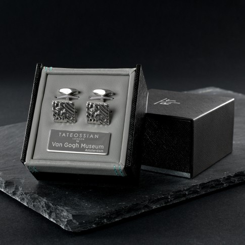 Van Gogh Tateossian® cufflinks square Crows