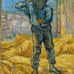 Van Gogh Giclée, Thresher (after Millet)