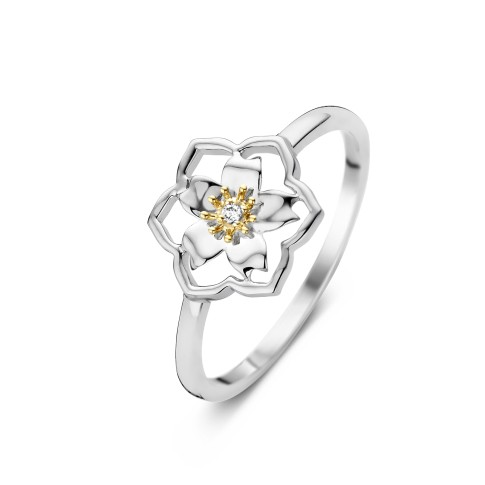 Van Gogh Gassan® Golden ring with diamond Almond Blossom