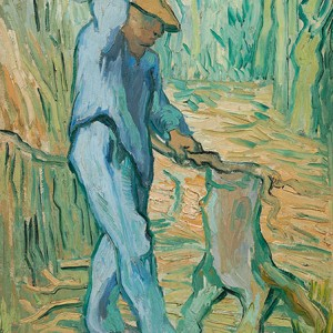 Van Gogh Giclée, The Woodcutter (after Millet)