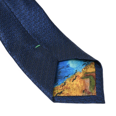 Van Gogh Silk tie Crows blue